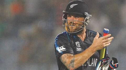 Brendon McCullum spearheaded the run-chase for the Black Caps. (Source: AP)