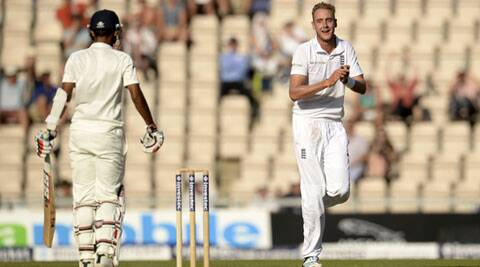 Anderson and Broad shared six wickets between them to destroy the Indian top order. (Source: Reuters)