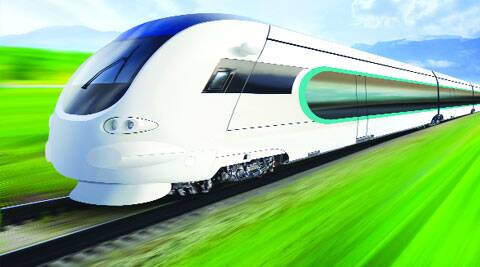 A Bullet Train is a high-speed passenger rail train, so named because of its aerodynamic design and velocity.