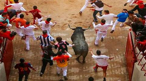 San Fermin festival, in Pamplona, Spain. ( Source: AP )