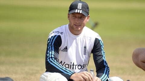 England's Jos Buttler looks on during a training session ahead of their third Test against India. (Source: Reuters)
