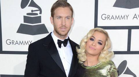Calvin Harris and Rita Ora split last month. (Source: AP)