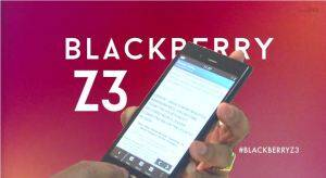 The Blackberry Z3 hands on