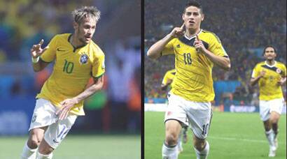 Battle of the number 10s:  Neymar vs James Rodriguez