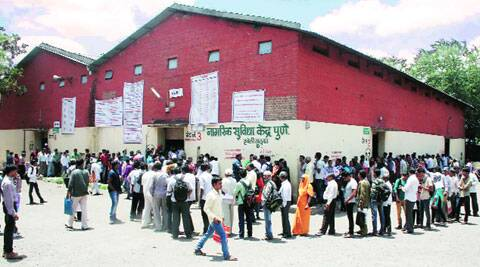 Applicants for caste validation certificate at a citizen facilitation centre. (Source: Express file photo)
