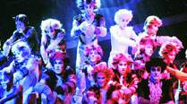 Singers and dancers perform in Cats during a photo opportunity in Vienna