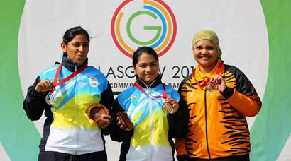 PHOTOS: Weightlifters, shooters add to India's medal tally
