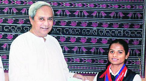 Dutee Chand with Orissa CM Naveen Patnaik. (File)