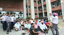 CCET teachers go on strike, seek job security