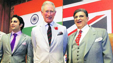 Poonawallas with Prince Charles during his visit last year. (Source: File)