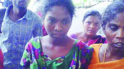 Sunita (above) and her mother survived, sister Sujata didn't.