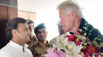 Bill Clinton in Lucknow