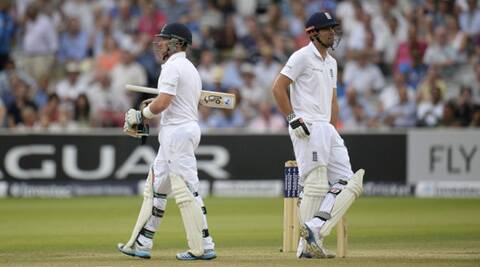 The form of England's top-order batsmen becomes even more of a concern now with Alastair Cook falling for 22 and Ian Bell out cheaply for 1. (Source: AP)