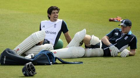 England skipper Alastair Cook (L) is under pressure to not only score runs but also lead his side to a series win (Source: Reuters)