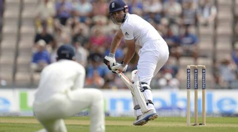 After being dropped by Jadeja on 15, Cook marked his return to form with a defiant 95 on Sunday. (Source: Reuters)