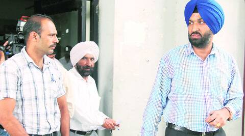 Inspector Ranjodh Singh of Chandigarh Police outside the SDM's office after giving his statement in the encounter case. (Source: Express photo)