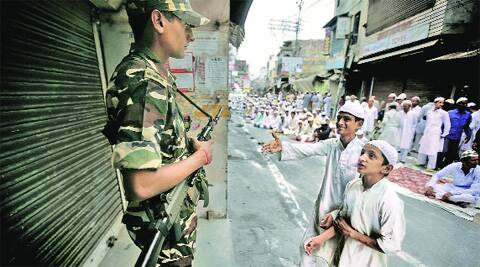 Curfew was relaxed for a few hours in the morning in the old city area in Saharanpur on Tuesday. Source: Praveen Khanna