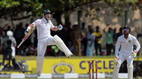 Dean Elgar scored hi second Test century against Sri Lanka at Galle. (Source: AP)