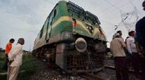 Naxals blow up rail tracks, Rajdhani pilot engine derails