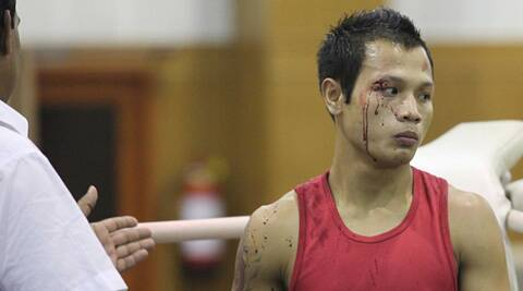 Devendro Singh missed the world championships after being headbutted at the trials this year (Source: IE Photo)