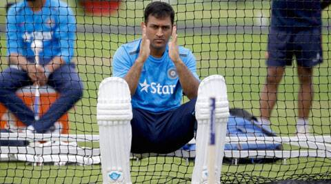 Mahendra Singh Dhoni during a practice session ahead of the second Test which starts at Lord's on Thursday (Source: AP)