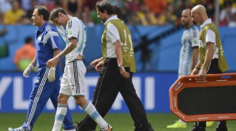 Di Maria suffered a thigh injury during the QF against Belgium. (Source: AP)