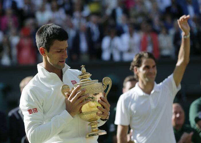 Playing against Roger Federer, who was chasing a record 8th Wimbledon and 18th grand slam title, Djokovic was shaky to start but matched Federer shot-by-shot as the game progressed (Source: AP)