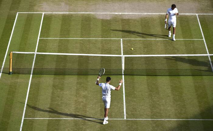 In a gripping contest, which lasted three hours and 56 minutes, there was no shortage of quality tennis as the masters in their own rights entertained the capacity crowd at the centre court on Sunday. A fitting end to a quality tournament! (Source: AP)