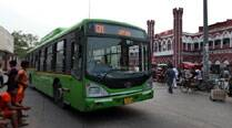 Angry crowd torches bus after it mows down woman inSultanpuri
