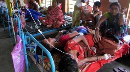 Japanese encephalitis claimed 165 lives in Guwahati. ( Express photo by Partha Paul )