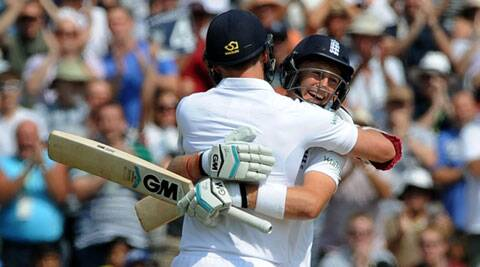 The day belonged to Root and the 31-year-old Anderson, who set a record 10th wicket partnership of 198 in Test. (Source: AP)