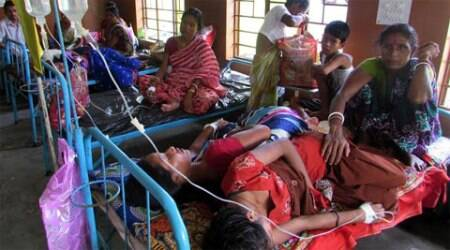 The DME said that it was a case of mixed infection with Japanese Encephalitis being responsible for around 24 per cent of infection. (Source: Express Photo by Partha Paul)