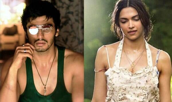 Arjun Kapoor, who is seen sporting a typical Goan look in the film, gets a sweet peck from his onscreen lady love Deepika in the video.