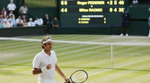 Federer reached his ninth Wimbledon and 25th Grand Slam final. (Source: AP)