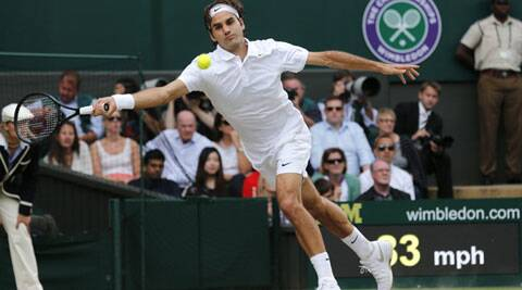 Federer fell agonisingly short of a record eighth Wimbledon title on Sunday as the Swiss star was beaten 6-7 (7/9), 6-4, 7-6 (7/4) 5-7, 6-4 by Novak Djokovic in the finals.  (Source: AP)