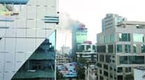 Fireman dies in Mumbai  highrise blaze, 20injured