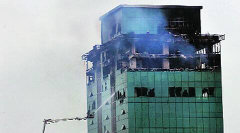 Three floors of Lotus Business Park were gutted in fire on July 18.