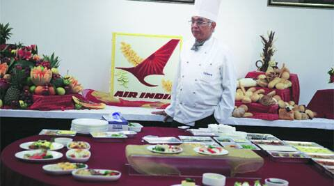 Director of food production at Taj SATS during a plating up demonstration.