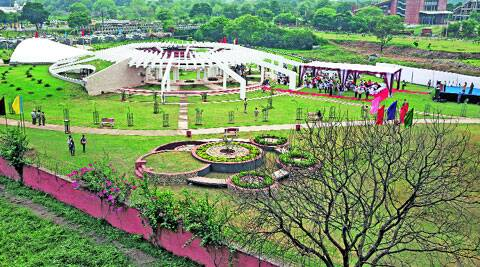 At the garden in Sector 42, Chandigarh, on Thursday. (Source: Express photo by Kamleshwar Singh