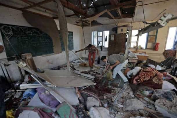 Israel bombs Gaza school, 20 killed