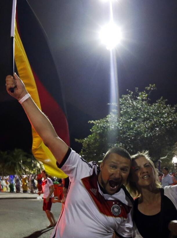 Germany script history, fans celebrate football World Cup victory