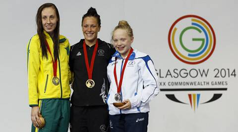 Erraid Davies (R), 13, won a bronze in the Para-sport SB9 - Scotland's 33rd medal at the Commonwealth Games (Source: AP)