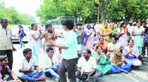 Cop shoots wife: GMSH-16, family protest policeinaction