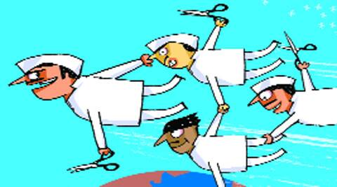 """The committee is planning the trip between August 19 and September 4 to """"study the finer aspects of their indirect tax model"""", sources told The Indian Express.  Illustration: C R Sasikumar"""