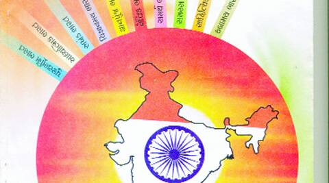"""Tejomay Bharat's """"facts."""" Source: Express photo"""