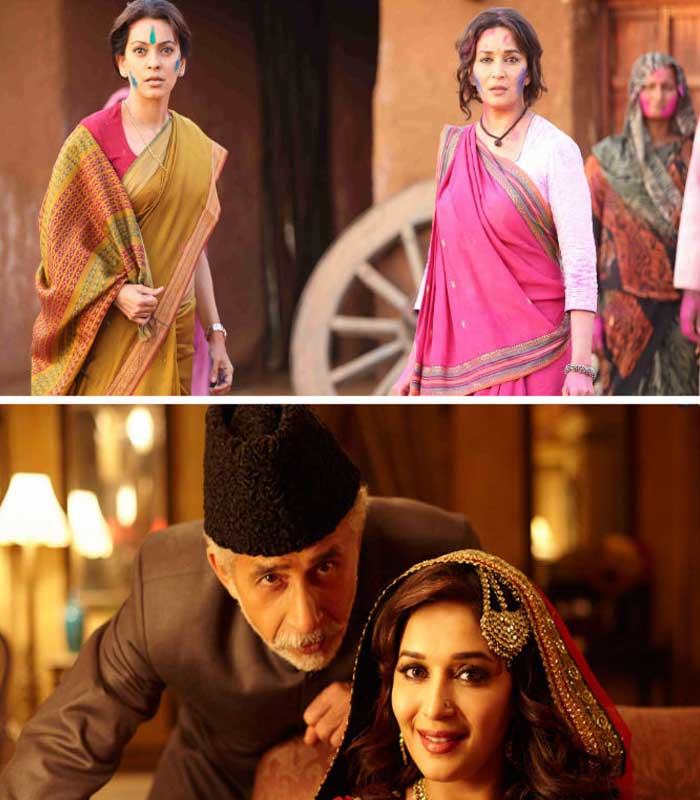 <b>Gulaab Gang/Dedh Ishqiya</b>:  Fans and the media alike held their breath while they waited patiently to see 'Dhak Dhak girl' Madhuri Dixit enchant us on screen once more. While 'Dedh Ishqiya' had a slow opening, it later picked up and was still declared an average performer. However, 'Gulaab Gang' also starring Juhi Chawla was a huge disappointment. Though the actress was praised for her performance, the film failed miserably.