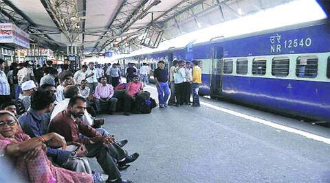 There are only 23 trains that pass through Gurgaon railway station for nearly 70,000 passengers. ( Express archive )