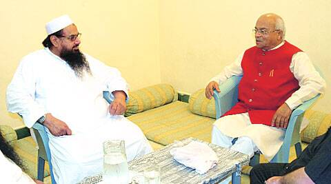 Hafiz Saeed with Vaidik in Lahore.