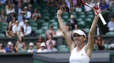 Halep, runner-up at the French Open, is the first Romanian woman to get this far at the All England Club since the Open era began in 1968. (Source: AP)