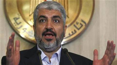 Hamas leader Khaled Meshaal speaks during a news conference after his meeting with Egypt's President Mohamed Morsi at the presidential palace in Cairo July 19, 2012. (Source: Reuters)